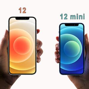 iPhone12 confronto dimensioni con iPhone12 mini mini